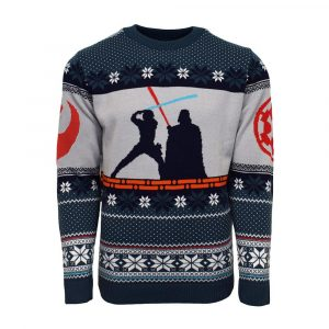 Luke Skywalker vs Darth Vader Christmas jumper